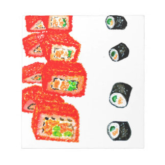 Sushi Set Watercolor3 Notepad