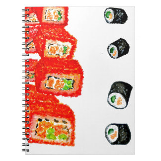 Sushi Set Watercolor3 Spiral Notebook