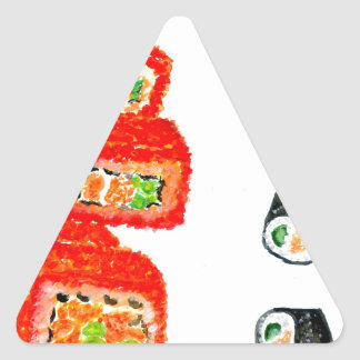 Sushi Set Watercolor3 Triangle Sticker