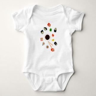Sushi Set Watercolor Baby Bodysuit