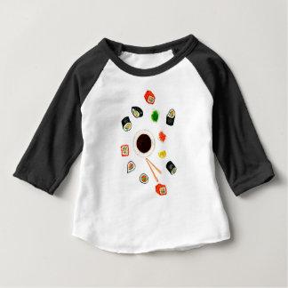 Sushi Set Watercolor Baby T-Shirt