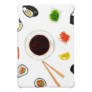 Sushi Set Watercolor Cover For The iPad Mini