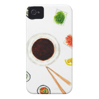 Sushi Set Watercolor iPhone 4 Cover