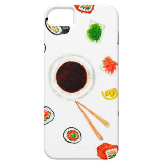 Sushi Set Watercolor iPhone 5 Cases