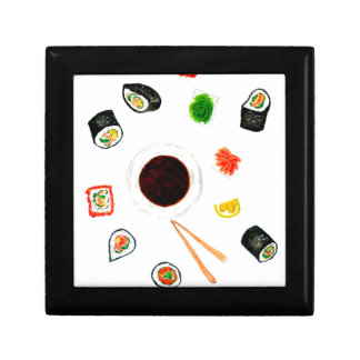 Sushi Set Watercolor Jewelry Boxes