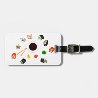 Sushi Set Watercolor Luggage Tag