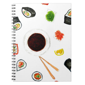 Sushi Set Watercolor Notebook