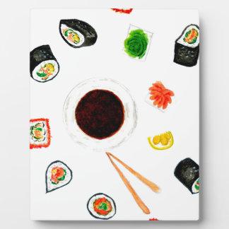 Sushi Set Watercolor Plaque
