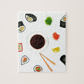 Sushi Set Watercolor Puzzles
