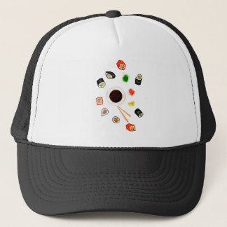 Sushi Set Watercolor Trucker Hat