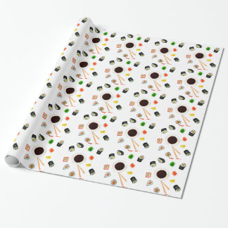 Sushi Set Watercolor Wrapping Paper