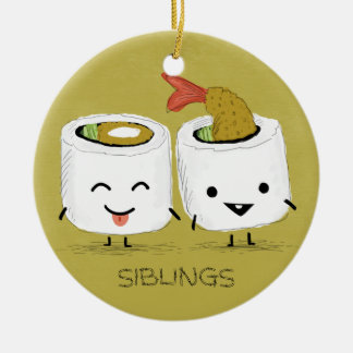 Sushi Siblings Ceramic Ornament