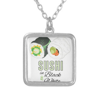 Sushi Silver Plated Necklace