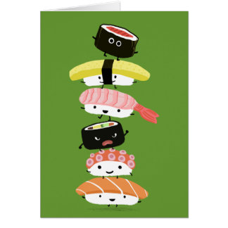 Sushi Stack - Happy Tower of Sushi Friends Card