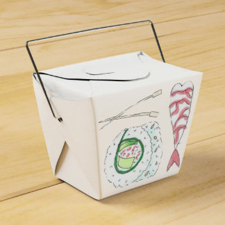 Sushi Takeout Box Party Favor Boxes