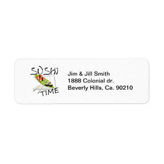 Sushi Time Return Address Label