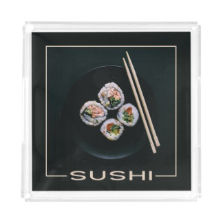 Sushi trays serving tray