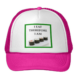 sushi trucker hat
