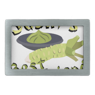 Sushis Friend Rectangular Belt Buckle