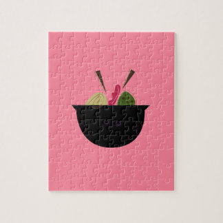 SUSHIS ON PINK. Design is original Jigsaw Puzzle