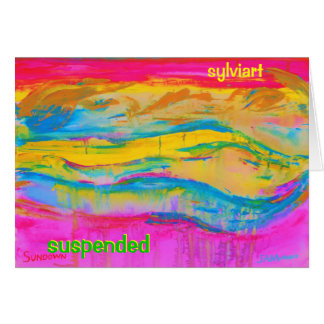 SUSPENDED copyright 2011 SylviART Card