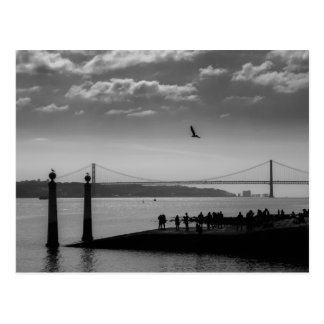 Suspension Bridge in Lisbon Postcard