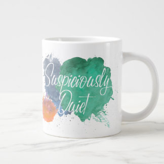 Suspiciously Quiet Paint Splats Large Coffee Mug