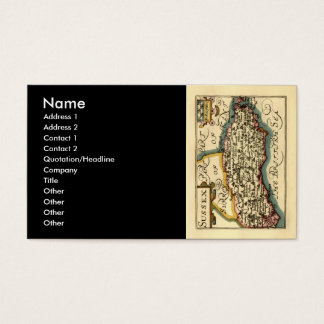 Sussex County Map, England Business Card