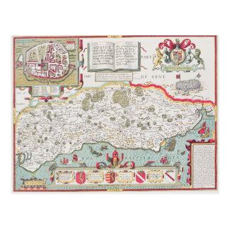 Sussex, engraved by Jodocus Hondius  from John Postcard