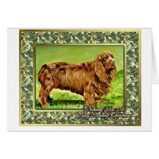 Sussex Spaniel Dog Blank Christmas Card