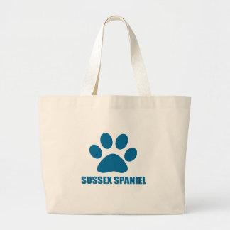 SUSSEX SPANIEL DOG DESIGNS LARGE TOTE BAG