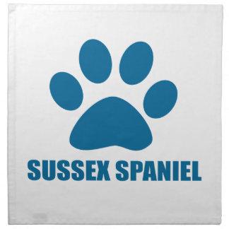 SUSSEX SPANIEL DOG DESIGNS NAPKIN