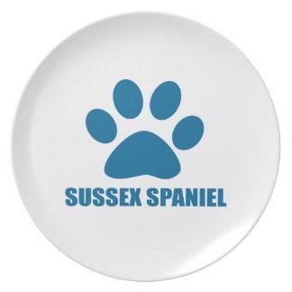 SUSSEX SPANIEL DOG DESIGNS PLATE