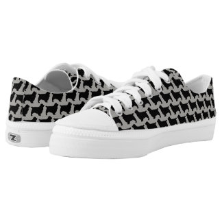 Sussex Spaniel Silhouettes Pattern Low-Top Sneakers