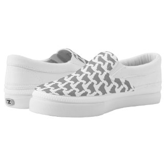 Sussex Spaniel Silhouettes Pattern Slip-On Sneakers