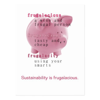 Sustainability Postcard