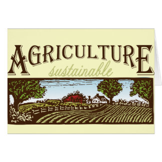 Sustainable Agriculture farm scene Card