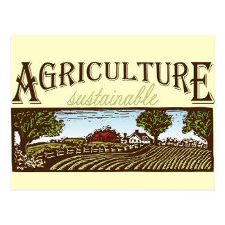 Sustainable Agriculture farm scene Postcards