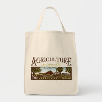 Sustainable Agriculture farm scene tote