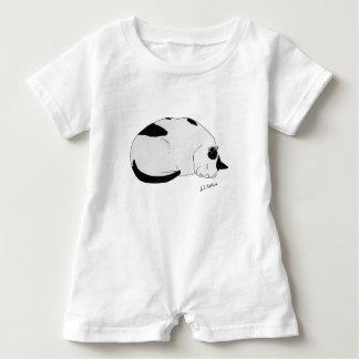 Sustainable Cotton Baby Onsie Romper Sleeping Cat