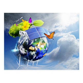 Sustainable Energy Ruling The Earth Postcard