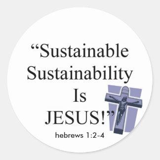 Sustainable Sustainability Classic Round Sticker