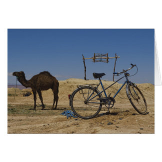 Sustainable transportation greeting card