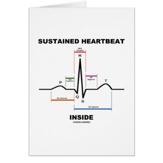 Sustained Heartbeat Inside (Electrocardiogram) Greeting Card