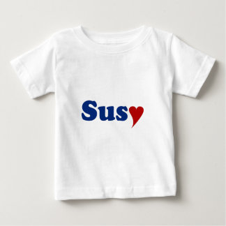 Susy with Heart Baby T-Shirt