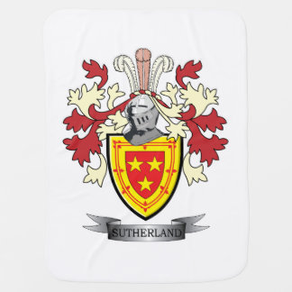 Sutherland Family Crest Coat of Arms Baby Blanket