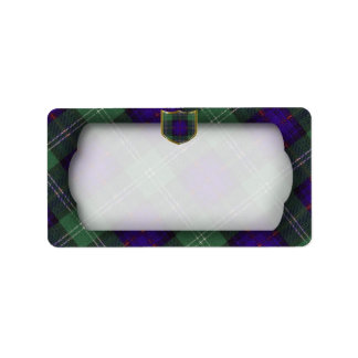 Sutherland Scottish Tartan plain label