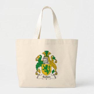 Sutton Family Crest Jumbo Tote Bag