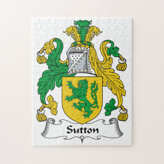 Sutton Family Crest Jigsaw Puzzle