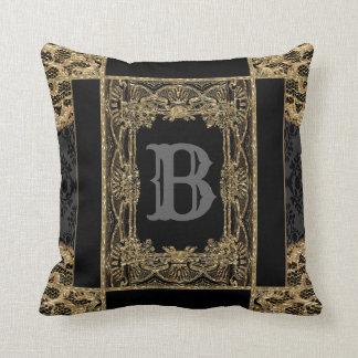 Sutton Place Victorian Beautiful Monogram Throw Pillow